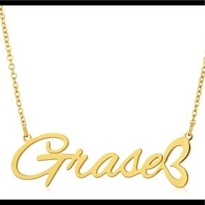 Custom personalized Name GRASE Grace necklace